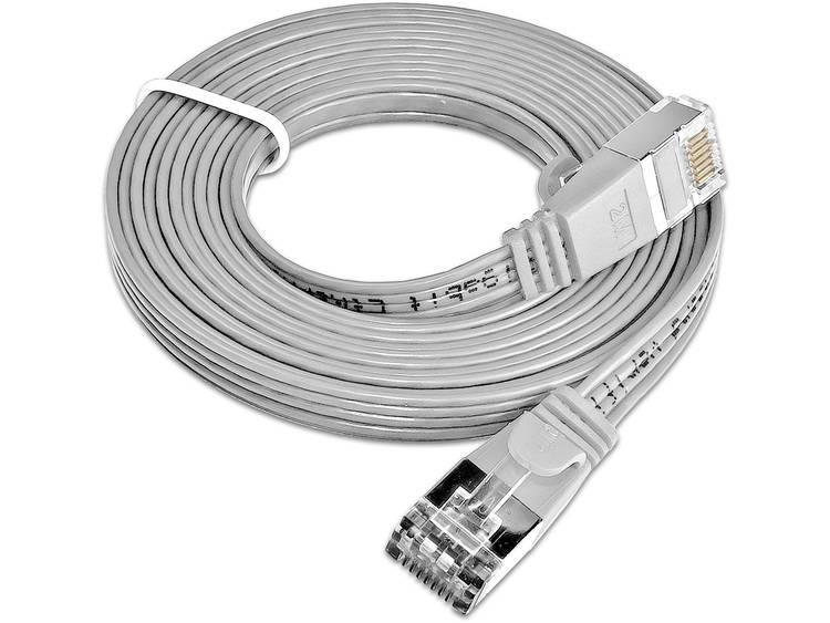 Netwerkkabel RJ45 CAT 6 U/FTP 3 m Grijs Slim Wirewin
