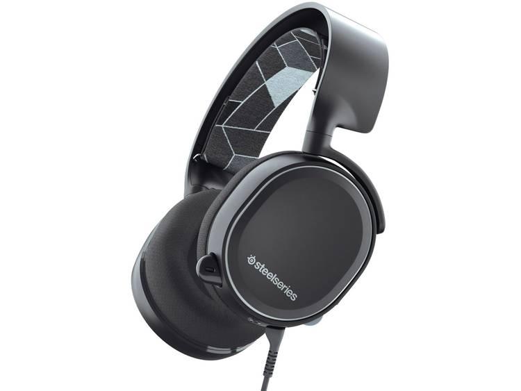 Gaming headset 3.5 mm jackplug Steelseries Arctis 3 Konsolen Edition Over Ear Zwart