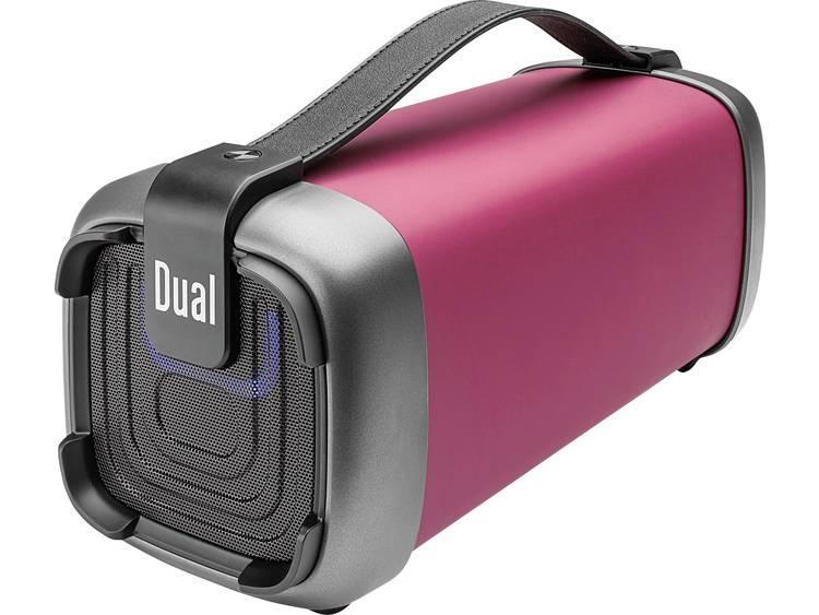 Dual BT 10 Bluetooth luidspreker AUX, FM radio, SD, USB Rood