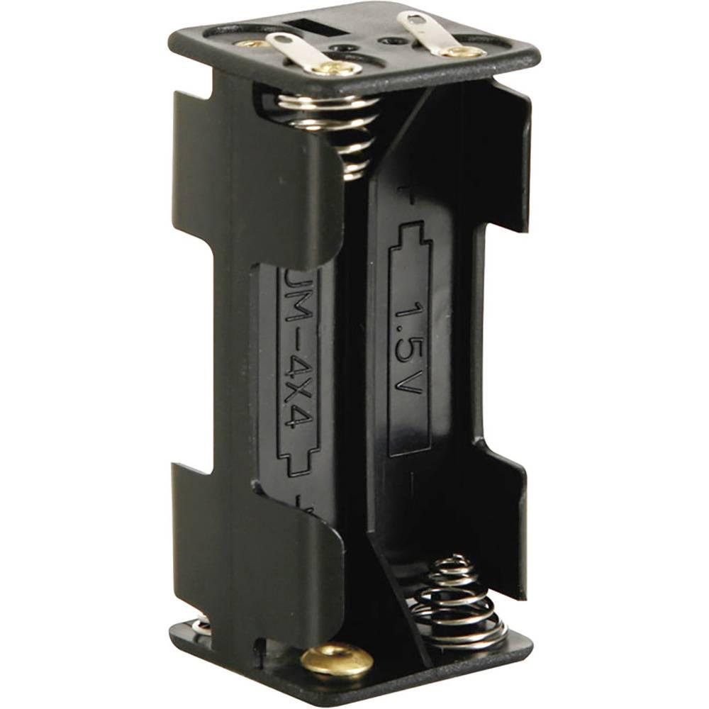 Velleman BH443D Batterihållare 4x AAA (R03) Lödanslutning (L x B x H) 53 x 27 x 25 mm