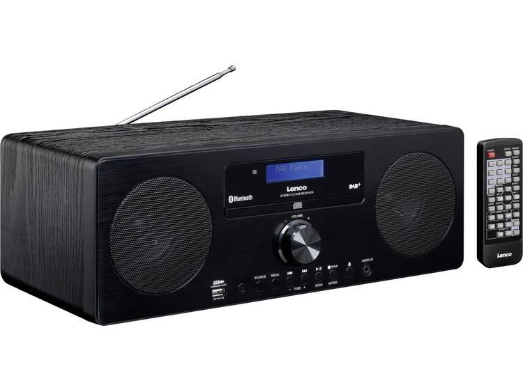 Lenco DAR-060 FM Tafelradio AUX, Bluetooth, CD Zwart