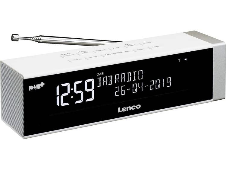 Lenco CR-630WH DAB+ Wekkerradio DAB+, USB, FM Accu laadfunctie Wit
