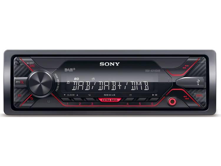 Autoradio enkel DIN Sony DSXA310KIT Aansluiting voor stuurbediening