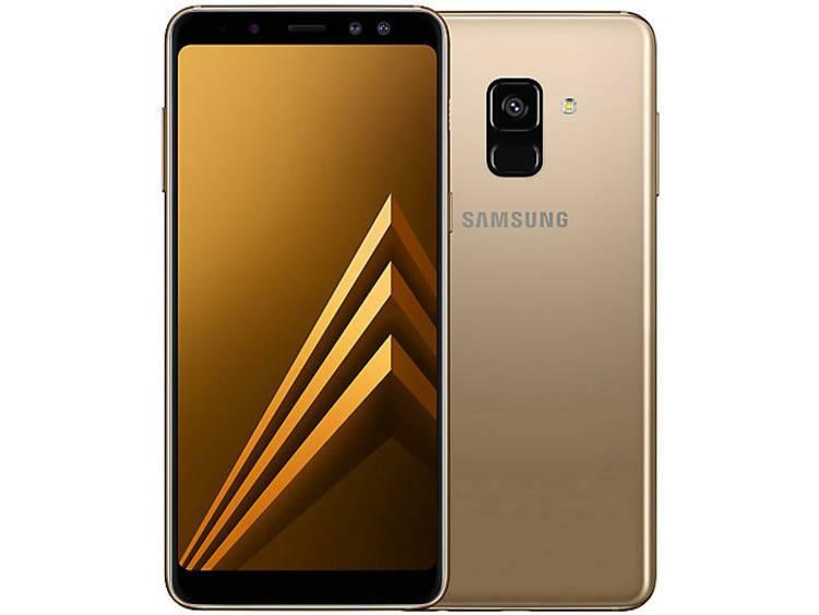 Samsung Galaxy A8 Dual-SIM LTE smartphone 14.2 cm (5.6 inch) 2.2 GHz, 1.6 GHz Octa Core 32 GB 16 Mpix Android 7.1.1 Nougat Goud