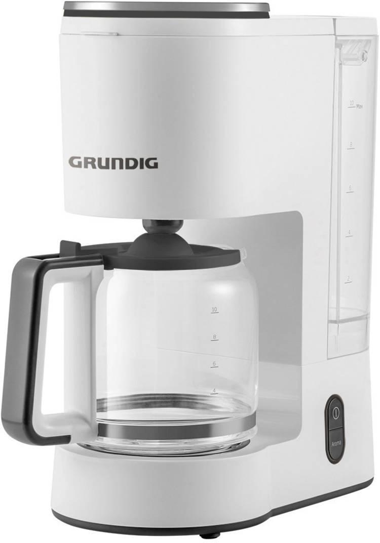 Image of Koffiezetapparaat Grundig KM 5860 Wit, Zwart Capaciteit koppen=10 Glazen kan, Warmhoudfunctie