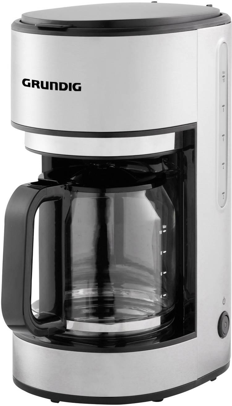 Image of Koffiezetapparaat Grundig KM 5620 RVS, Zwart Capaciteit koppen=10 Glazen kan, Warmhoudfunctie