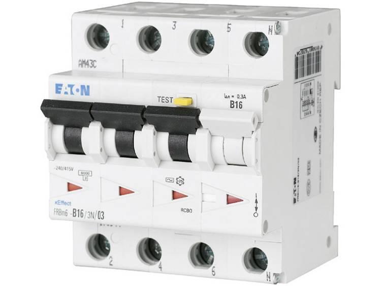 Eaton 170997 Aardlekschakelaar-zekeringautomaat 4-polig 10 A 0.03 A 415 V-AC