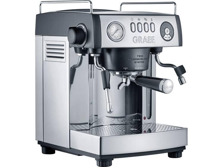 Espressomachine Graef ES902EU RVS, Zwart 2515 W met melkopschuimer - Prijsvergelijk