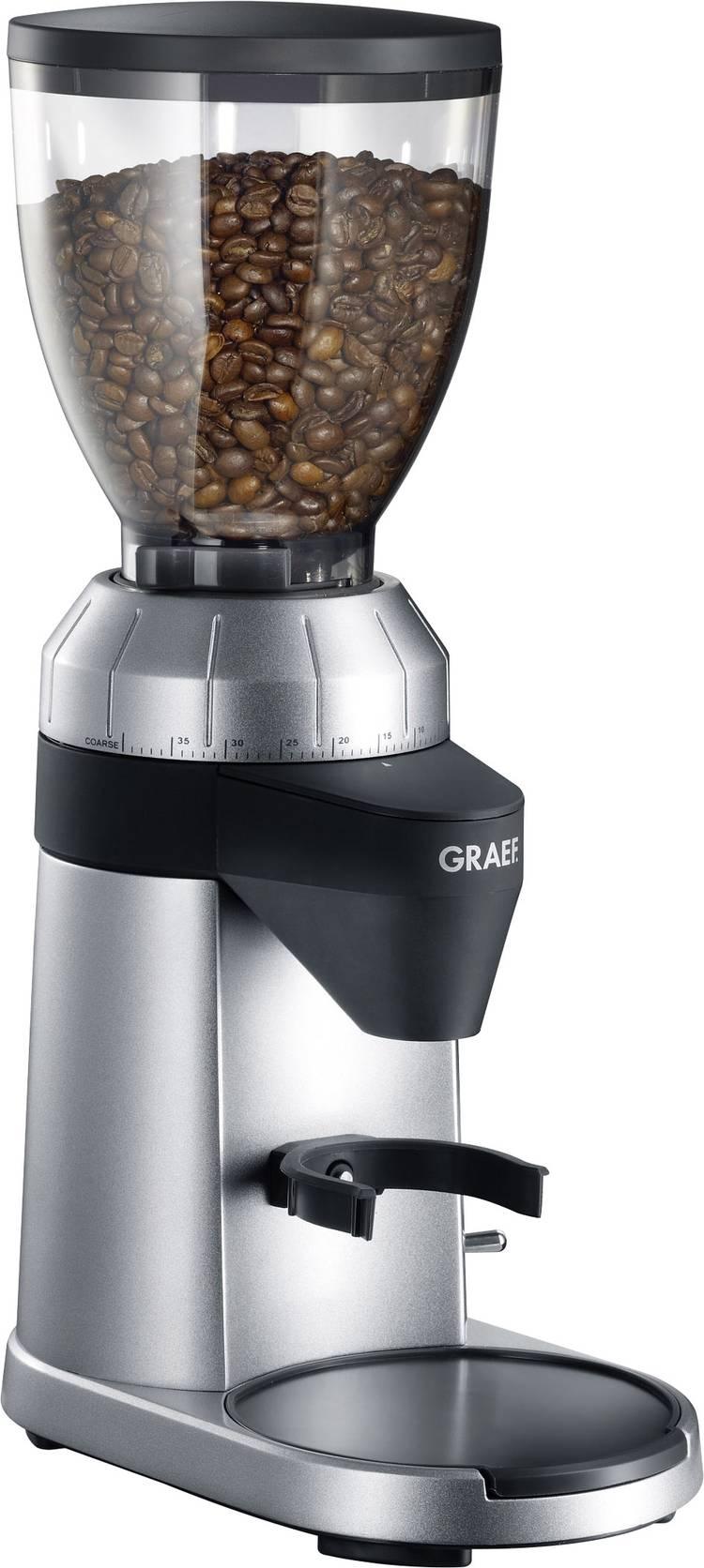 Image of Koffiemolen Graef CM800EU Zilver, Zwart CM800EU Stalen kegelmaalwerk