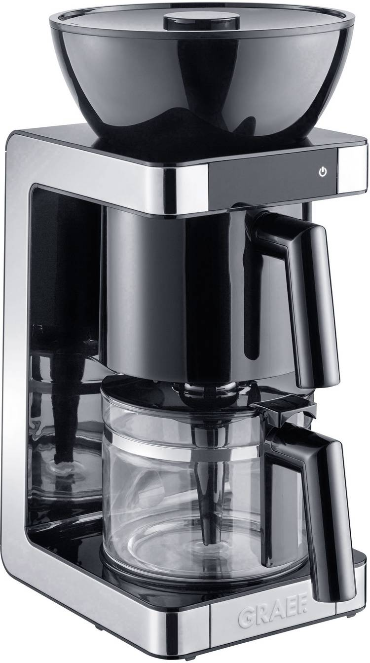 Image of Koffiezetapparaat Graef FK702EU Zwart, RVS Capaciteit koppen=10 Glazen kan, Warmhoudfunctie