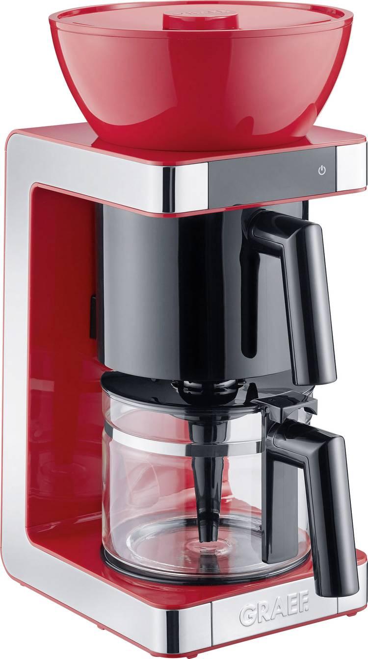 Image of Koffiezetapparaat Graef FK703EU Rood, RVS Capaciteit koppen=10 Glazen kan, Warmhoudfunctie