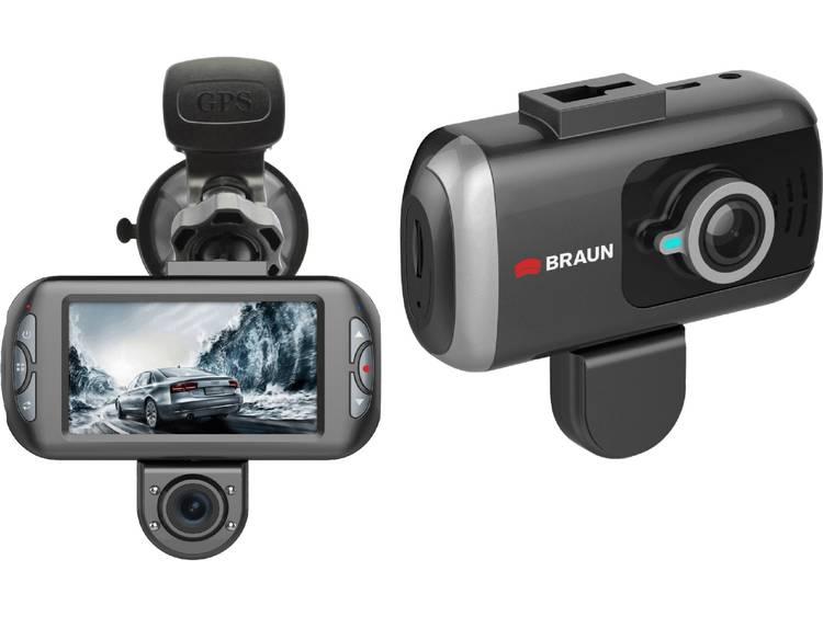 Braun Germany B Box T7 Dashcam met GPS Kijkhoek horizontaal (max.) 170 ° Microfoon