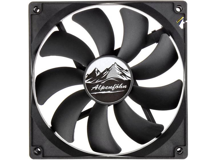 PC ventilator EKL Alpenföh Basic 140 PWM Zwart (b x h x d) 140 x 140 x 25 mm