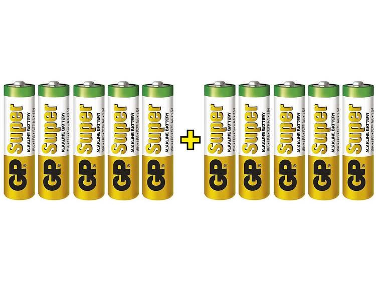 AA batterij (penlite) GP Batteries Super 5 + 5 Alkaline 1.5 V 10 stuks