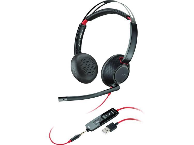 Plantronics Blackwire C5220 USB, 3.5 mm jackplug Telefoonheadset Zwart, Rood