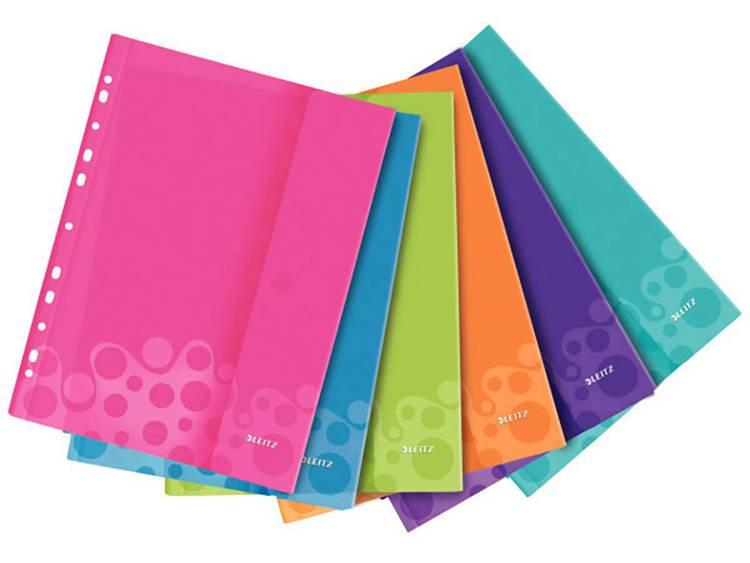Leitz Showtassen WOW 4707 Polypropyleen Roze, Blauw, Groen, Oranje, Lila, Turquoise 4707-00-99 6 stuks