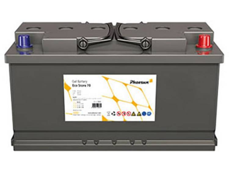 Phaesun Eco Store 70 340265 Solar-accu 12 V 70 Ah Loodgel (b x h x d) 278 x 190 x 175 mm Conuspool
