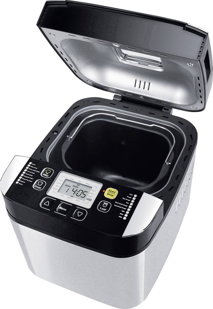 Image of Steba Germany Broodbakmachine BM 1 Zilver, Zwart