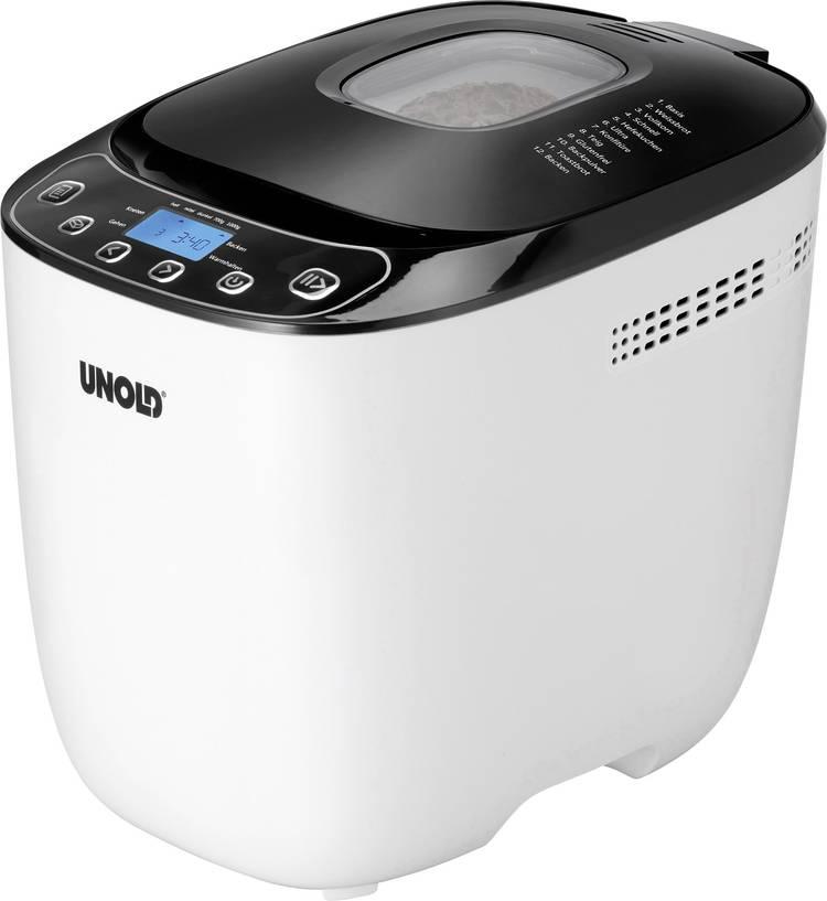Unold Broodbakmachine 68010 Wit. Zwart