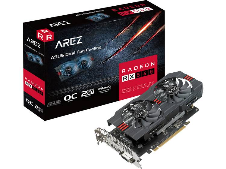 Videokaart Asus AMD Radeon RX 560 Arez Evo Overlocked 2 GB GDDR5-RAM PCIe x16 HDMI, DVI, DisplayPort