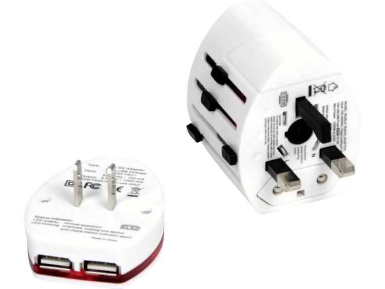 USB-oplader Omega Travel OTRA2 4in1 14014 (Thuislader) Uitgangsstroom (max.) 2000 mA 3 x USB, Netbus