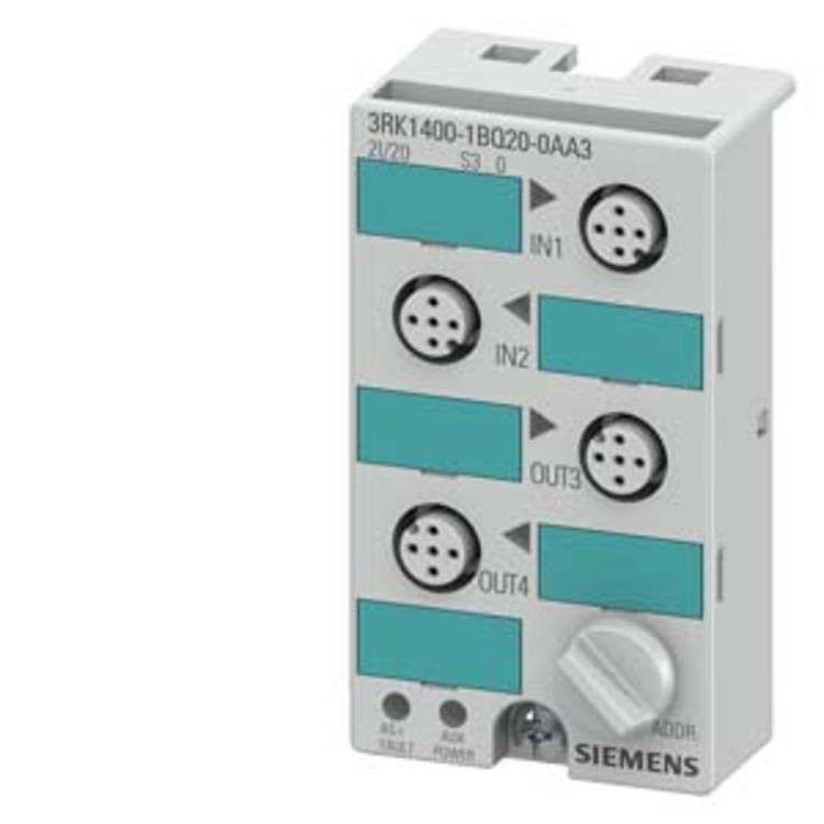 Image of Siemens 3RK1400-1BQ20-0AA3 PLC-I/O-module 3RK14001BQ200AA3