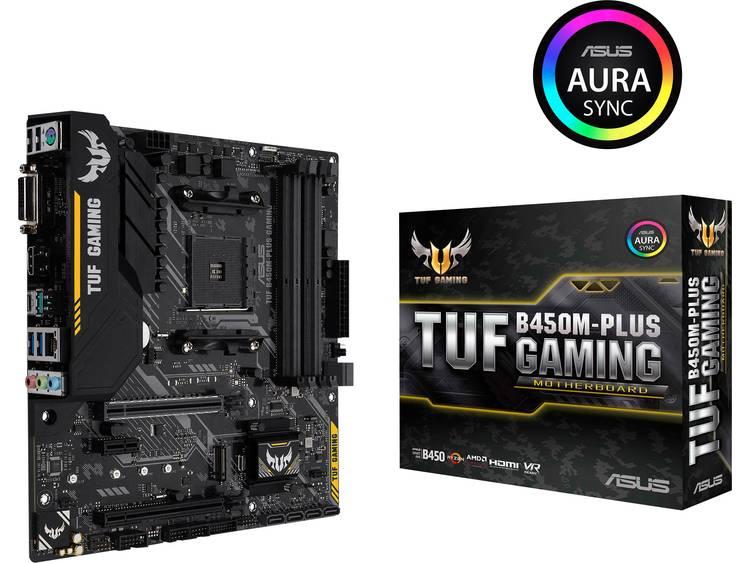 Asus TUF B450M-Plus Gaming Moederbord Socket AMD AM4 Vormfactor Micro-ATX Moederbord chipset AMD® B450