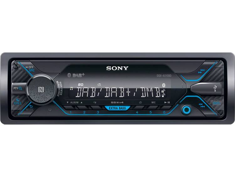 Sony DSX-A510KIT Autoradio enkel DIN DAB+ tuner, Bluetooth handsfree