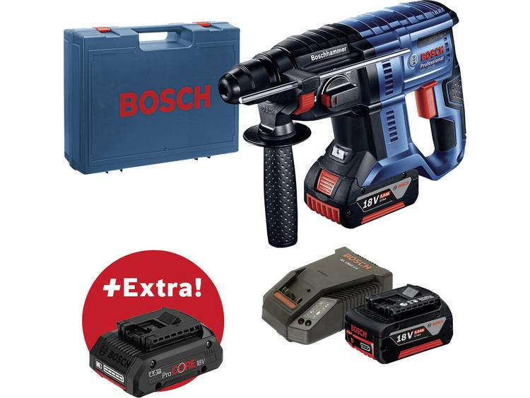 Accuboorhamer Bosch Professional GBH 18V-20 (2x5.0;CC) + ProCORE18V 4.0Ah incl. 3 accus 18 V Li-ion