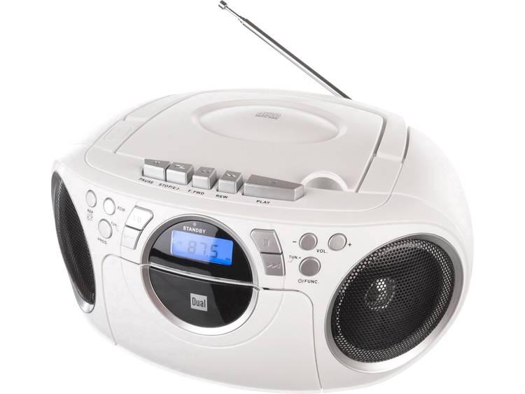 Dual P 70 FM CD-radio AUX, CD, Cassette, FM Wit