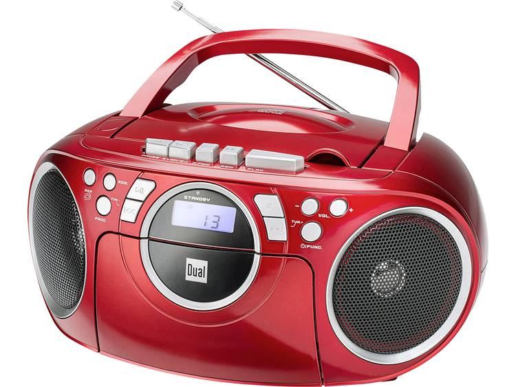 Dual P 70 FM CD-radio AUX, CD, Cassette, FM Rood