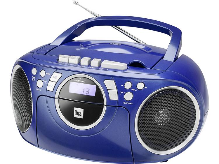 Dual P 70 FM CD-radio AUX, CD, Cassette, FM Blauw