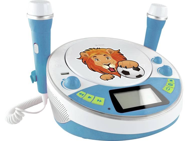 X4 Tech Bobby Joey Jam Box Kinder CD-speler Bluetooth, AUX, CD, USB, SD Incl. karaoke-functie, Incl.