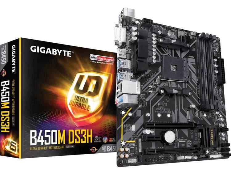 Gigabyte B450M DS3H Moederbord Socket AMD AM4 Vormfactor Micro-ATX Moederbord chipset AMD® B450