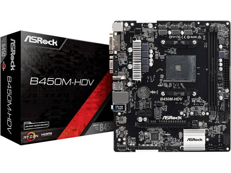 ASRock B450M-HDV Moederbord Socket AMD AM4 Vormfactor Micro-ATX Moederbord chipset AMD® B450