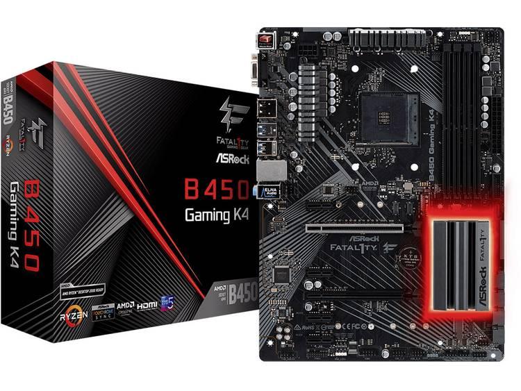 ASRock B450 Gaming K4 Moederbord Socket AMD AM4 Vormfactor ATX Moederbord chipset AMD® B450