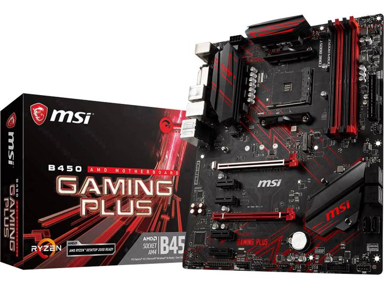 MSI Gaming B450 Gaming Plus Moederbord Socket AMD AM4 Vormfactor ATX Moederbord chipset AMD® B450