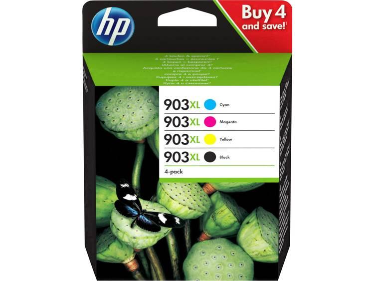 HP Inkt 903XL Origineel Combipack Zwart, Cyaan, Magenta, Geel 3HZ51AE