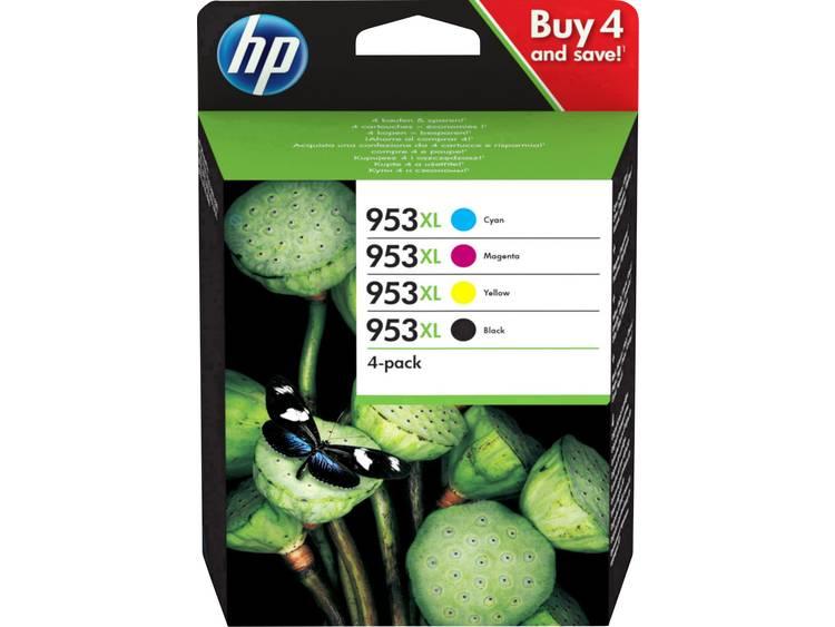 HP Cartridge 953XL Origineel Combipack Zwart Cyaan Magenta Geel 3HZ52AE Cartr