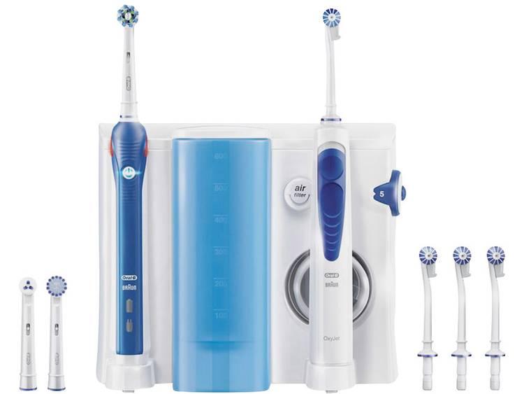 Oral-B Pro 2000 + OxyJet Mundpflege Center Elektrische tandenborstel, Monddouche Wit, Donkerblauw