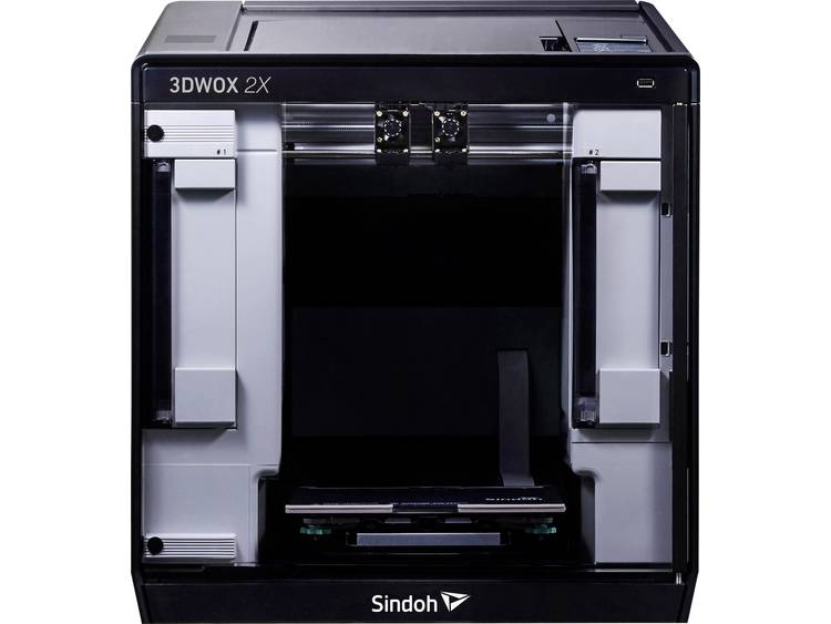 3D-printer Sindoh 3DWOX 2X 12,7 cm kleuren-touchscreen, geintegreerde camera, Flexibel metaalbed, in