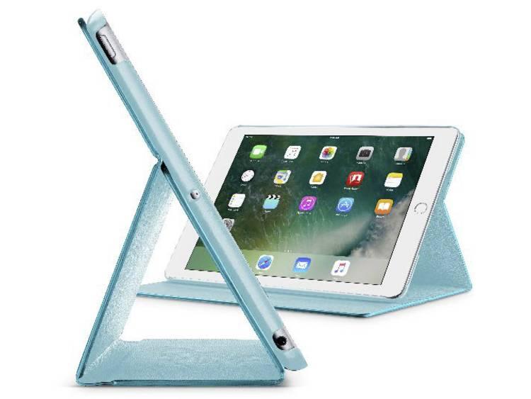 Cellularline iPad Cover / hoes Geschikt voor Apple: iPad 9.7 (maart 2018), iPad 9.7 (maart 2017), iPad Air Turquoise