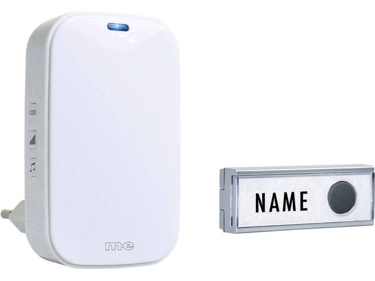 m-e modern-electronics 41154 Complete set voor Draadloze deurbel Met naambord