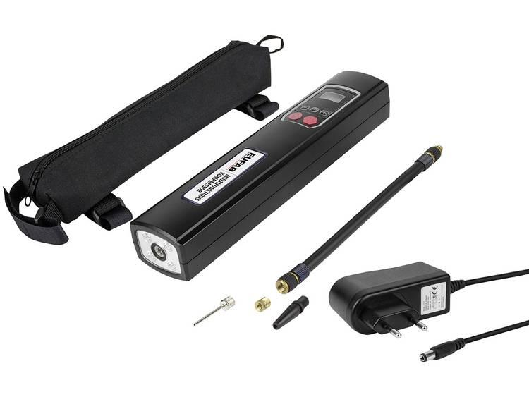 Eufab Compressor 21077 8 bar 230 V laadbar, Opbergbox tas, Automatische afschakeling, Digitaal display, Met werklamp