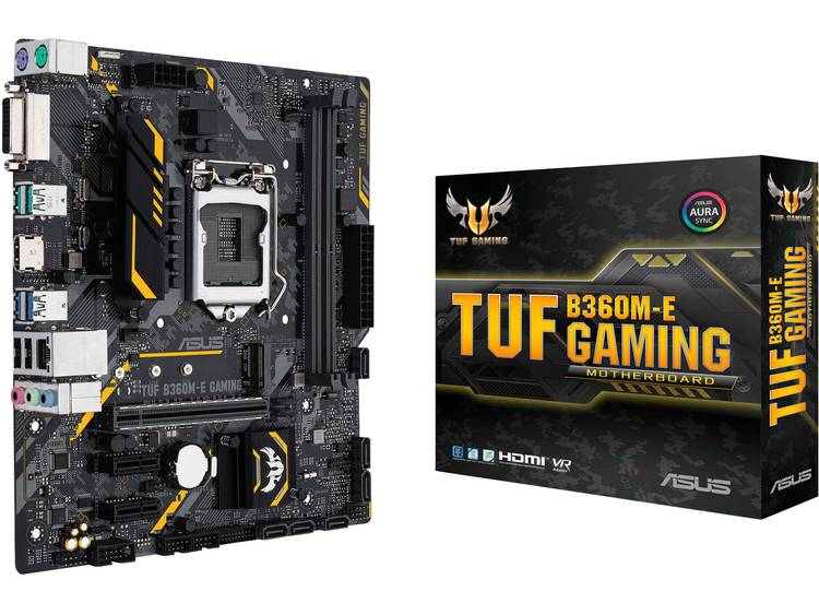 Asus TUF B360M-E GAMING Moederbord Socket Intel® 1151v2 Vormfactor Micro-ATX Moederbord chipset Intel® B360