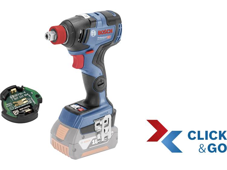 Bosch Professional GDX 18V-200 C + CoMo, Click & Go Accudraaislagmoeraanzetter 18 V Li-ion Zonder ac