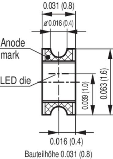 OSRAM LG R971 SMD-LED 0805 Groen 20 mcd 160 ° 20 mA 2.2 V