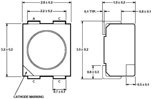 Broadcom HSML-A401-U40M1 SMD-LED PLCC4 Oranje 400 mcd 120 ° 50 mA 2.2 V