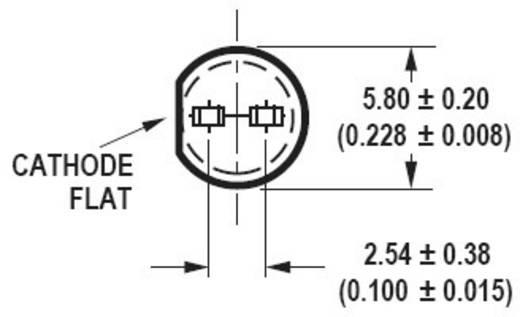 Broadcom HLMP-EL13-VY0DD LED bedraad Amber Rond 5 mm 8100 mcd 15 ° 20 mA 2.2 V