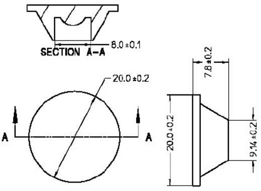 Broadcom ASMT-M015 LED-optiek Helder Transparant 15 ° Aantal LED´s (max.): 1 Voor LED: Avago®-LED Typ ASMT-Mxxx